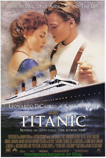 TITANIC MOVIE POSTER Original DS 27x40 International 'B'  MINT LEONARDO DICAPRIO