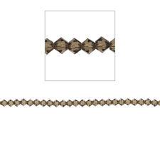 4mm Bicone Crystal Beads, Smoky Quartz, 100pc,Loose Beads, Made with Swarovski