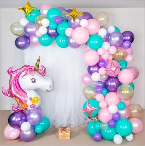 Balloon Arch Garland Unicorn Baby Shower Wedding Birthday Balloons Party Decor