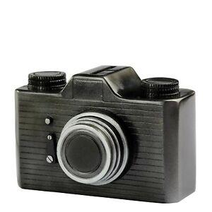 Camera, Money Bank, Spardose aus Polyresin. metallfarbig. 12x7x8 cm.