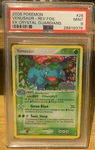Venusaur EX Crystal Guardians Reverse Holo 28/100 PSA 9 Mint POP 46 Pokemon 2006