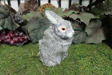 Gray Grey Standing Adorable Rabbit Easter Bunny Furry Animal Decor