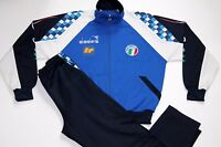 RARE VINTAGE DIADORA ITALY W.C.1990 PLAYER ISSUE FULL TRACKSUIT,RETRO,SIZE:LARGE