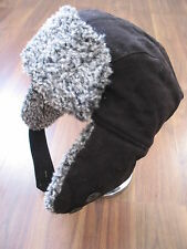 BNWT NEXT BLACK Trapper Hat with ear flaps HAT RRP£22