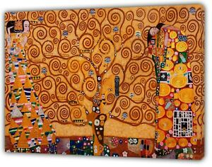 GUSTOV  KLIMT  THE TREE OF LIFE OIL PAINT REPRINT  ON  FRAMED CANVAS WALL ART