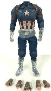 FREE SHIPPING: Hot Toys MMS360 Battling Captain America Body & Hands Ltd Edition