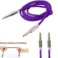 3.5mm Stereo Jack to Jack Male Car Aux Cable Audio Auxiliary Lead For Phone *-*