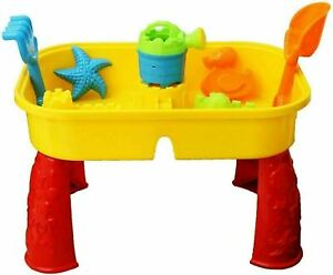 Sand & Water Play Table Kids Child Sandpit Toy Set Spade Bucket Garden Home NEW