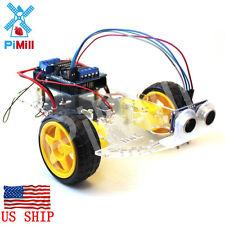 Pimill Arduino Obstacle Avoiding Robot Car Kit Non Soldering Version