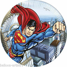 8 DC COMICS METROPOLIS SUPERMAN Children's PARTY 23cm carta usa e getta PIASTRE
