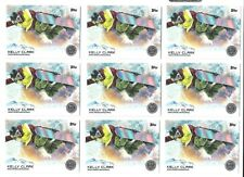 (9) 2014 TOPPS OLYMPIC KELLY CLARK SILVER CARD #15 LOT ~ USA SNOWBOARDING LEGEND