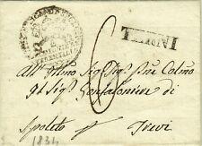 1083-STATO PONTIFICIO, PREF., DA FERENTILLO- TERNI A SPOLETO PER TREVI, 1834
