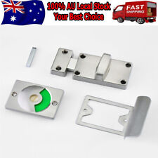 Chrome Bathroom WC Toilet Privacy Door Lock Latch Indicator Bolt Vacant Engaged