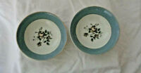 Two Royal Doulton Berry Bowls Rose Elegans English Transluscent China
