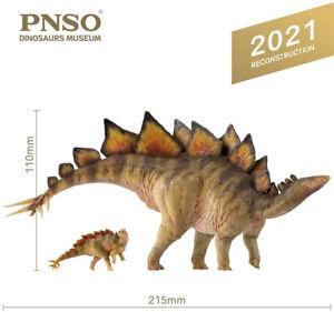 PNSO 1/35 Stegosaurus Bieber & ROOK Dinosaur Model Animal Collector Decor Gift