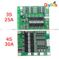 3S/4S 25A/30A BMS PCB Protection Board for 18650 Li-ion Lithium Battery Cell