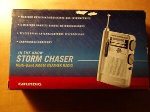 GRUNDIG MULTI BAND AM/FM WEATHER RADIO, STORM CHASER, BRAND NEW IN ORIGINAL BOX.
