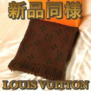 Louis Vuitton Women's Scarf Wool Brown Monogram Authentic Used Condition m709