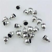 21212 50pcs Vintage Silver Alloy Beads Ends Cap For Drop Tassel Earrings Dia.6mm