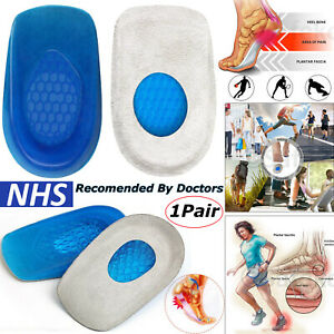 Heel Support Silicone Shoe Pads Gel Orthotic Plantar Care Insert Cushion Insoles