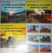 GUINEA 2001 3085-90 Block 648-50 1907-12 1916-18 Locomotives Lokomotiven Züge **