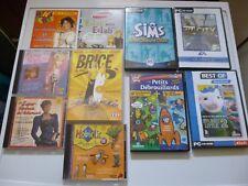 Lot de jeux PC CD-ROM / DVD-ROM  CD musicaux  Film BRICE de  Nice sims sim city