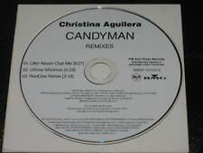 CHRISTINA AGUILERA - Candyman REMIXES - 3 Track PROMO CD! RARE! Ultimix RedOne