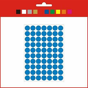 Vinyl not paper Stickers CIRCLES DOTS 8/15/20 mm self adhesive stationery crafts