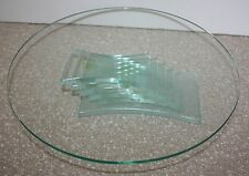 PartyLite Stratus #P7725 3-Wick Candle Holder or Dessert/Cake Plate