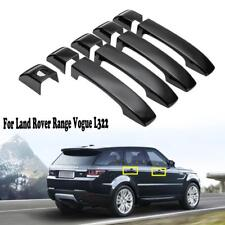 9Pcs Gloss Black Door Handle Covers Set For 02-12 Land Range Rover Vogue L322