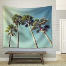 Wall26 - California palm trees in vintage style Fabric Wall - CVS - 51x60 inches