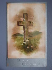 R&L Postcard: Beautiful, Easter Holy Cross, Dove Bird, Raphael Tuck 1030