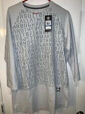 Men's Under Armour HeatGear L/S Gray Graphic Training Shirt Size Xl $90 Rtl