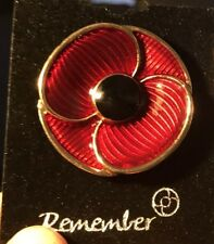 """Whisper Poppy Brooch 'Stunning'  Wear All Year Around """"Remembrance Day""""40mm"""