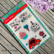 New Clear Stamp Set Scrapbook Card Making Car Cake CS201