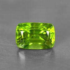 4.27 Cts Natural Unique AAA+ Top Green Peridot Loose Gemstone Cushion Cut Burma