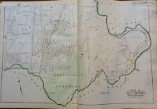 1889 G.W. BROMLEY FELTONVILLE GREENMOUNT CEMETERY PHILADELPHIA PA COPY ATLAS MAP