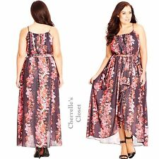 $119 New Nordstrom City Chic Summer Romance Frill Maxi Dress Plus Size 22 24 XL