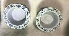 Set of Two (2) Yankee Candle Blue Paisley Tea Light Holders
