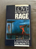 """1988 1ST EDITION """"LOVE IN THE DAYS OF RAGE"""" FICTION HARDBACK BOOK"""