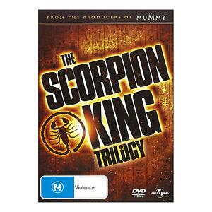 The Scorpion King 1, 2 & 3 Trilogy DVD Brand New Region 4 Aust. - Dwayne Johnson