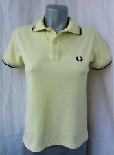 FRED PERRY Light & Stretch Lorbeerkranz Damen Kurzarm Poloshirt Bluse, Gr. 36