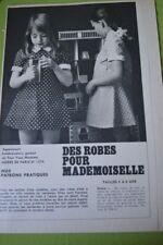""""""" MODES de PARIS """" PATRON N°1374//ROBES ETE ENFANTS T 4/8 ANS"""