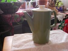 Coffee pot / Tea Pot with lid/ceramic Green Vintage 50's holds 6 cups