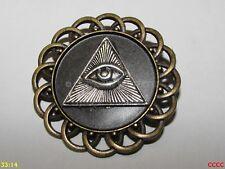 Steampunk Pin Insignia Broche ojo que ve todo de la Providencia Illuminati Masónica