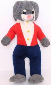 Animal Fair Inc. Red Fuzzy Rare Vtg Filled Stuffed Animal Large Bunny Rabbit