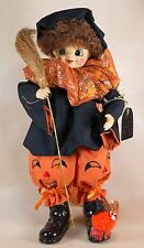 "Vintage Brinn's October Halloween Clown Doll 12.5"" In Box 1986"