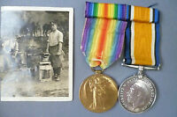 WW1 Royal Artillery Medal to 173155 Gunner CS Strong with Bar & Postcard (Org*)