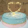 1Pc LED Pearl Heart Star Cake Topper Happy Birthday Cake Baking Party Decor Hot!