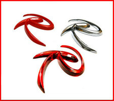 3D Tuning Lettering R Logo Emblem Rose Red For 11 12 13 Kia Sportage